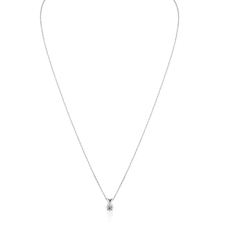 1/4ct 14k White Gold Diamond Pendant, 2 Stars
