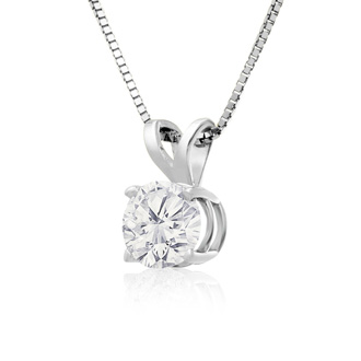 2/3ct 14k White Gold Diamond Pendant, 2 Stars