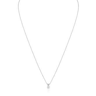 1/6ct 14k White Gold Diamond Pendant