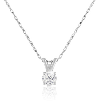 1/6ct 14k White Gold Diamond Pendant