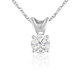 1/5ct 14k White Gold Diamond Pendant