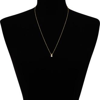 1/5ct 14k Yellow Gold Diamond Pendant, 3 stars