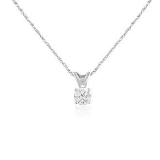 1/4ct 14k White Gold Diamond Pendant