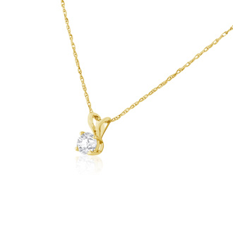 1/4ct 14k Yellow Gold Diamond Pendant