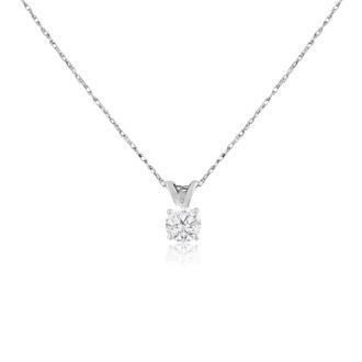 3/8ct 14k White Gold Diamond Pendant