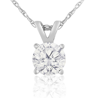 1/2ct 14k White Gold Diamond Pendant