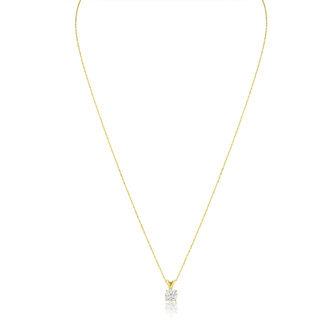 1/2ct 14k Yellow Gold Diamond Pendant