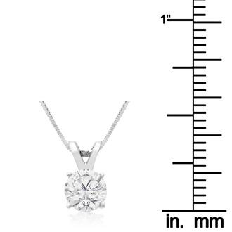 2/3ct 14k White Gold Diamond Pendant