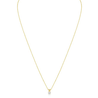 1/6ct 14k Yellow Gold Diamond Pendant, 4 stars
