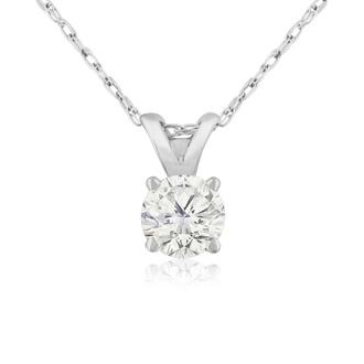 1/3ct 14k White Gold Diamond Pendant, 4 stars