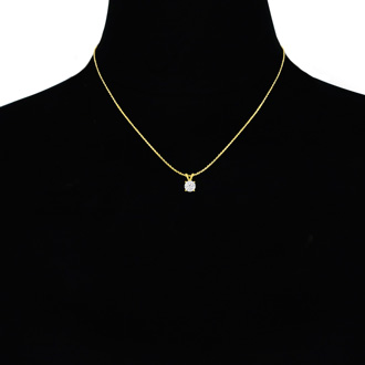 3/8ct 14k Yellow Gold Diamond Pendant, 4 stars