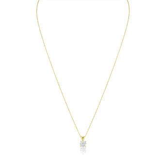 2/3ct 14k Yellow Gold Diamond Pendant, 4 stars