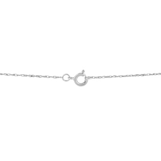 1/2ct 14k White Gold Princess Diamond Pendant