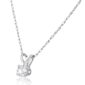 1/6ct Diamond Pendant in 14k White Gold