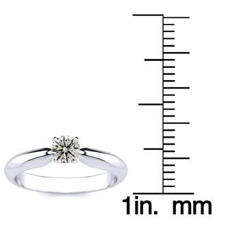 1/4 Carat 14K White Gold Diamond Engagement Ring