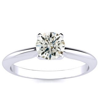 18K White Gold 3/4 Carat Diamond Engagement Ring