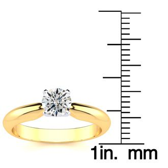 1/2 Carat 14K Yellow Gold Diamond Engagement Ring