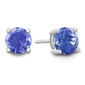 1/2ct Tanzanite Stud Earrings in Sterling Silver
