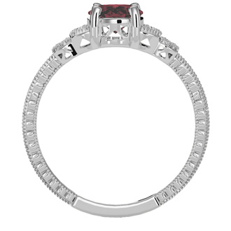 Beautiful 1 1/2ct Ruby and Diamond Ring in 10k White Gold