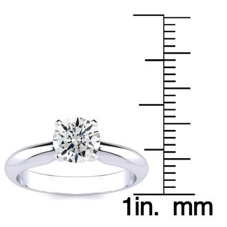 1 Carat 14K White Gold Diamond Engagement Ring
