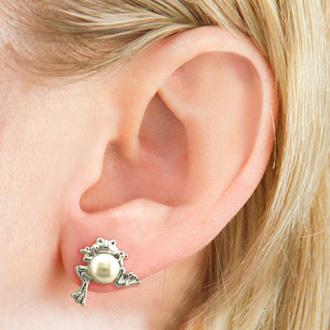 Froggy Freshwater Pearl Earrings