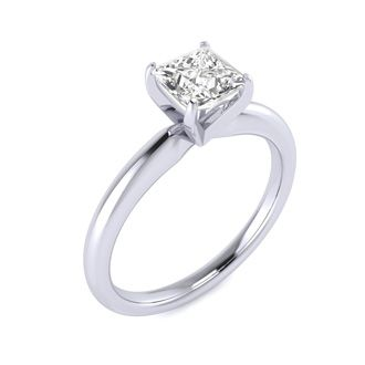 3/4ct Princess Diamond Engagement Ring, 14k White Gold, G/H/I SI1/SI2