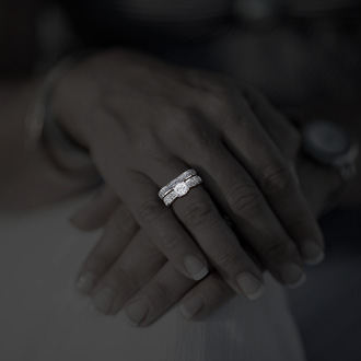 1ct Round Diamond Bridal Set, 14k White Gold