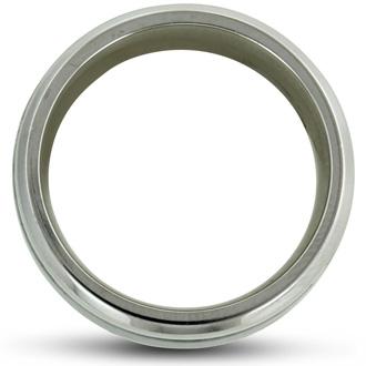 8MM Men's Titanium Carbide Ring Wedding Band W/ Carbon Fiber Inlay