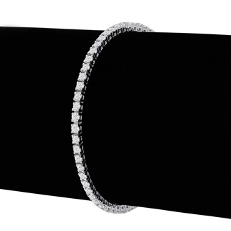 3ct Diamond Tennis Bracelet in 14k White Gold