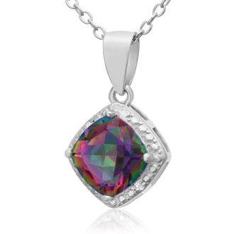 1 1/2 Carat Mystic Topaz Necklace