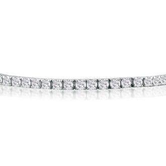 5ct Genuine Diamond Tennis Bracelet in 14k White Gold, J/K I1/I2