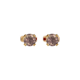 1/3ct Chocolate Bar Brown Champagne Certified Diamond Stud Earrings in 14k Yellow Gold