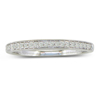 1/5ct Round Cut Pave Diamond  Band in 14k White Gold