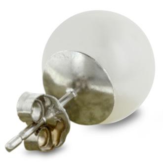 8mm Cultured Pearl Stud Earrings in 14 Karat White Gold