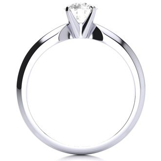 1/2 Carat Colorless Diamond Solitaire Engagement Ring in White Gold