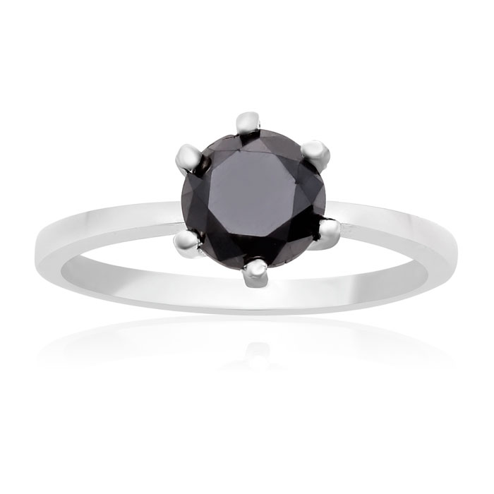 1 Carat Black Diamond Ring in Sterling Silver by SuperJeweler