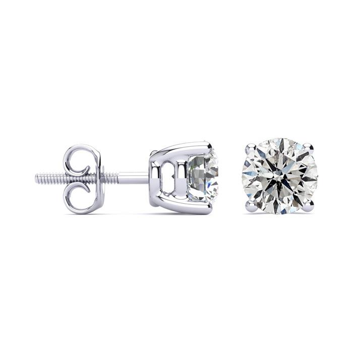 2ct Diamond Stud Earrings Set in Platinum. Excellent Value