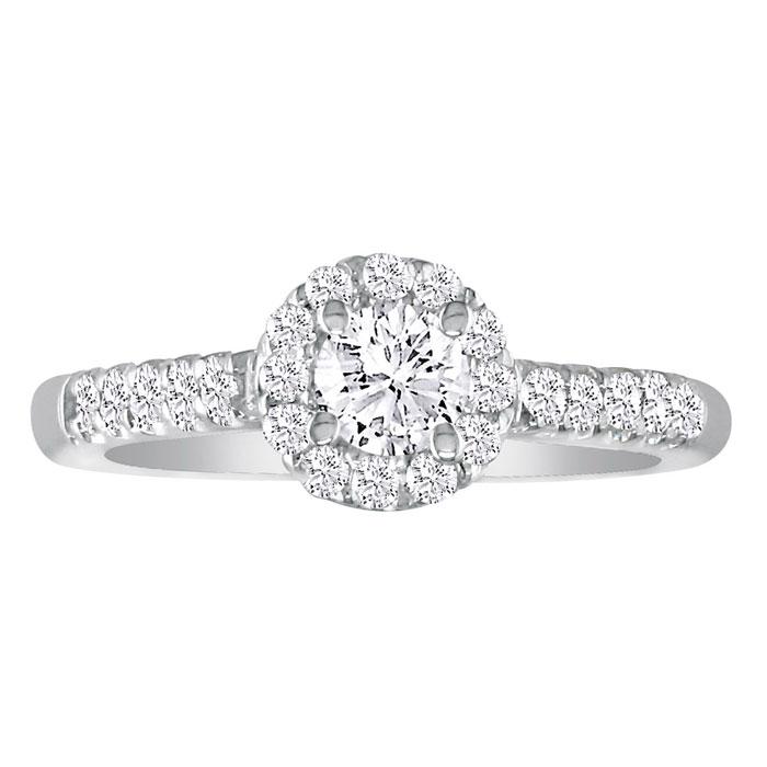 Hansa 2 3/4ct Diamond Round Engagement Ring in 18k White Gold, H-I, I1-I2, Available Ring Sizes 4-9.5