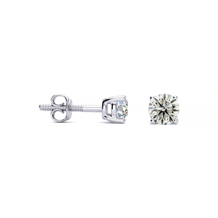 1/3 Carat Diamond Stud Earrings in Platinum, K/L by Hansa