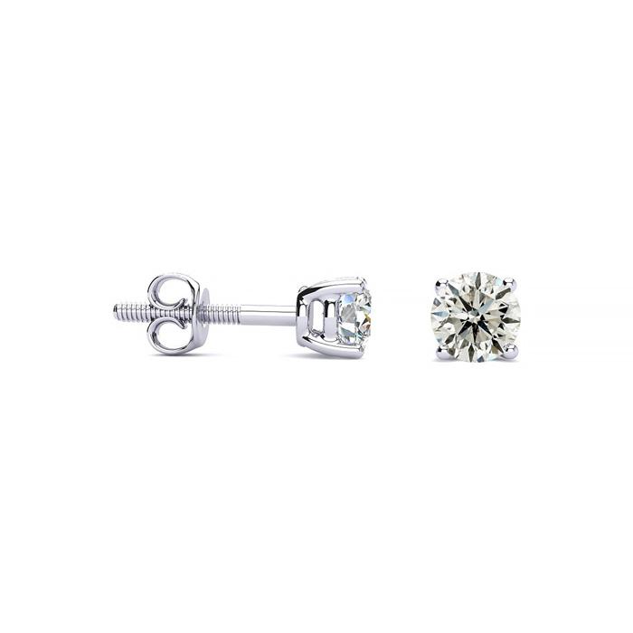 1/3 Carat Diamond Stud Earrings in Platinum, K/L by Hansa