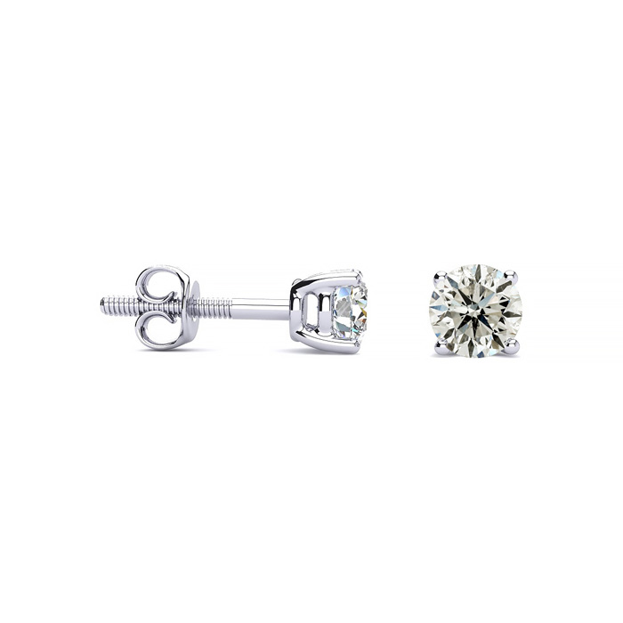 1/2 Carat Diamond Stud Earrings in Platinum, K/L by Hansa