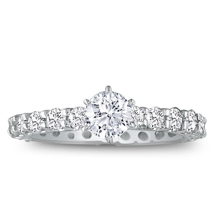 1 2/3 Carat Diamond White Gold (3.4 g) Eternity Bridal Engagement