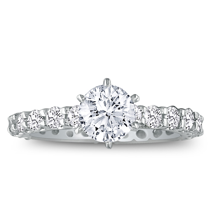 2 3/4 Carat Diamond White Gold (3.4 g) Eternity Bridal Engagement Ring (, SI2-I1) by SuperJeweler