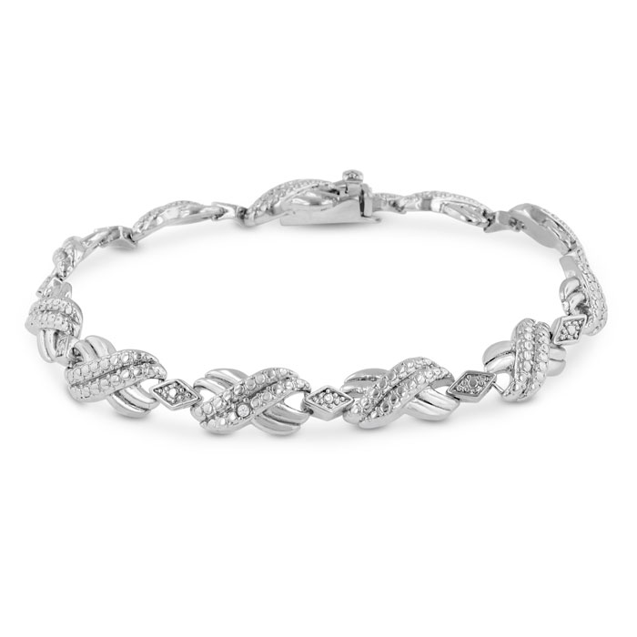Fine Diamond Accent Bracelet, 7 Inches, J/K by SuperJeweler