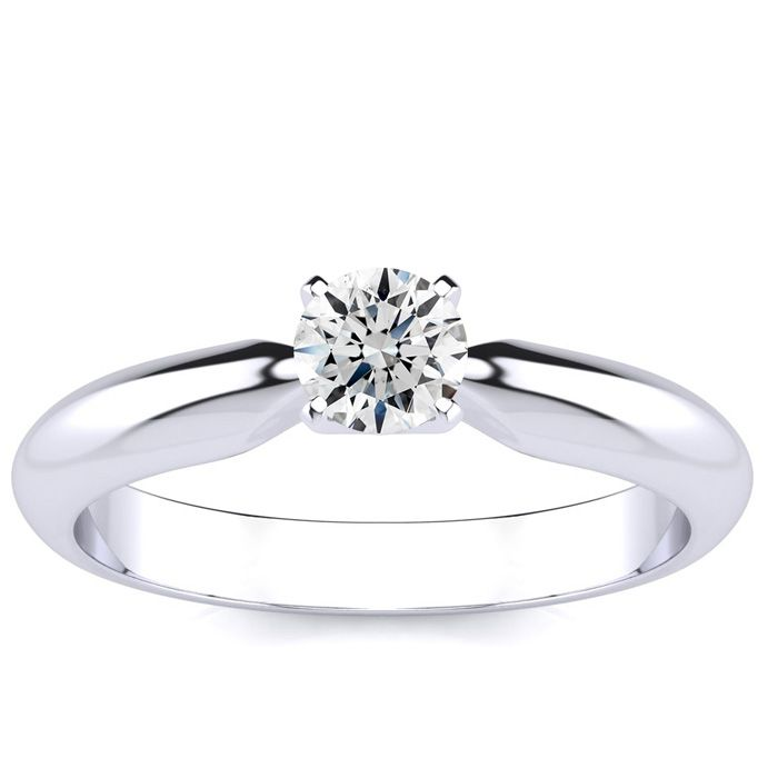 1/4 Carat Platinum Diamond Engagement Ring (H-I, SI2-I1) by Hansa