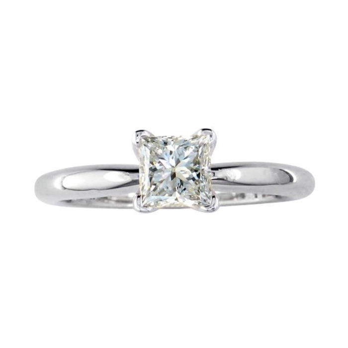 1/4 Carat Platinum Princess Cut Diamond Solitaire Engagement Ring (, SI2-I1) by SuperJeweler