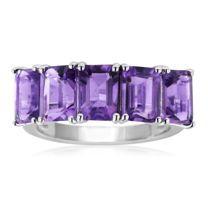 5ct Amethyst Ring Crafted In Solid Sterling Silver