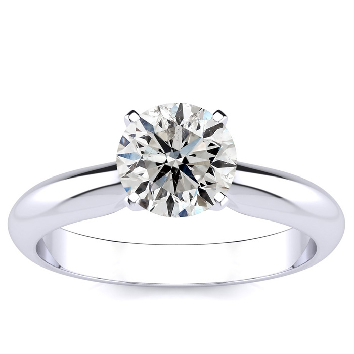 1.25 Carat Diamond Solitaire Engagement Ring in 14K White Gold (H-I, SI2-I1 Clarity Enhanced) by SuperJeweler