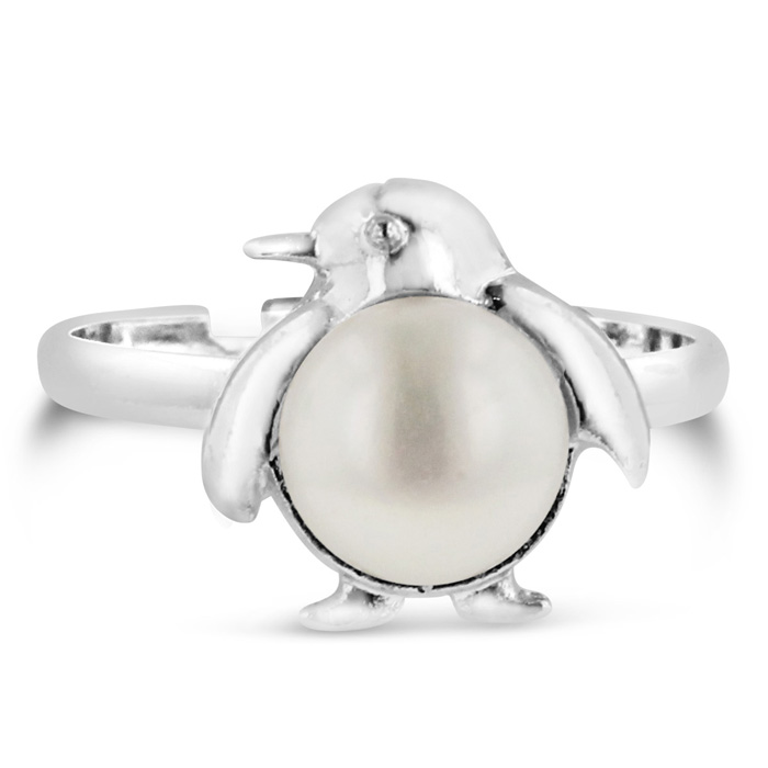 Penguin Shaped Freshwater Pearl Ring by SuperJeweler