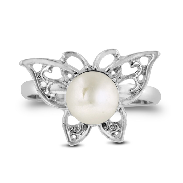 Butterfly Shaped Freshwater Pearl Ring by SuperJeweler